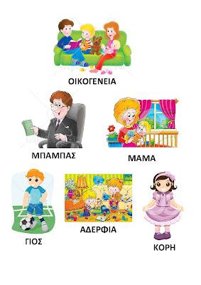 Image result for μαθαινω τα μελη της οικογενειας