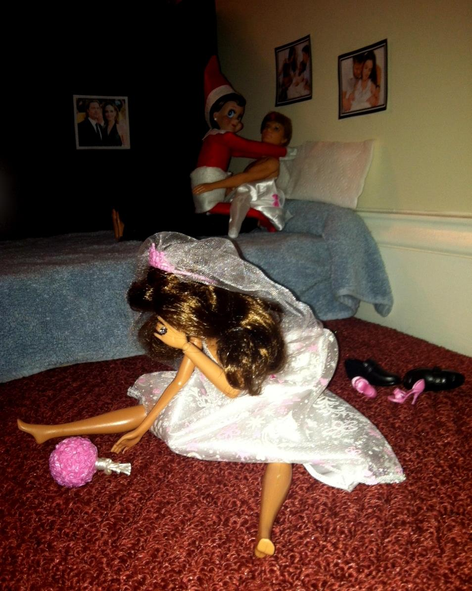 Elf on the shelf elf on the shelf caught by barbie