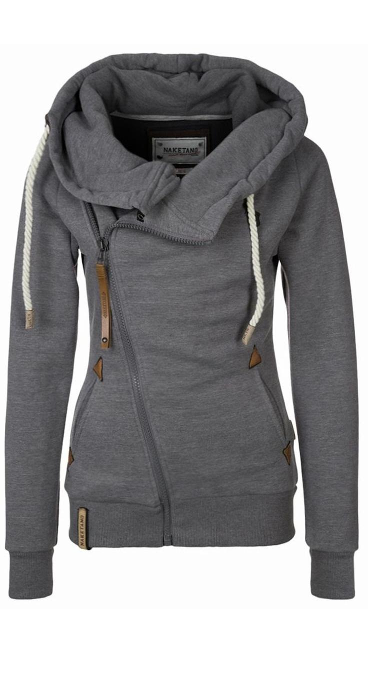 Grey Womens Hoodie