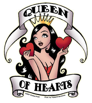 Queen Of Hearts Pin Up Tattoo Traffic Club