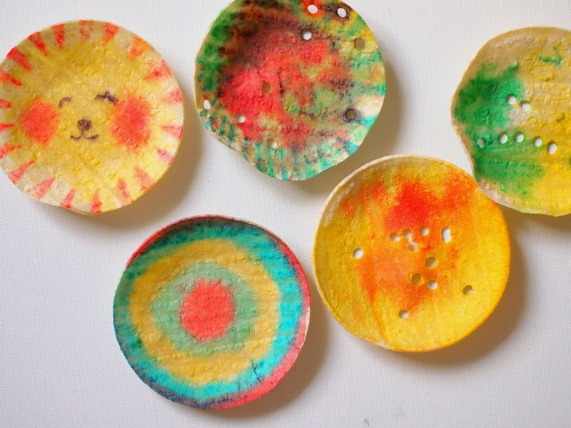 making art with tortillas