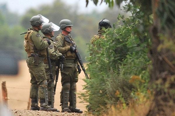 Resultado de imagen para la araucanía militarizada