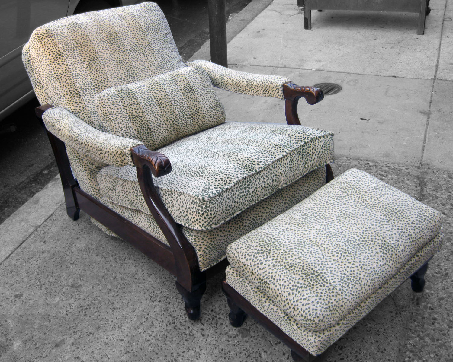 Antique Adjustable Chair W/ Storage Ottoman   SOLD. Labels: Animal Print ...