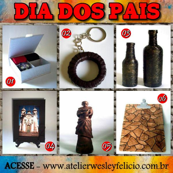 Wishilist, dia dos pais, atelier wesley felicio, artesanato, crafts, handmade, presentes, cartonagem, garrafa