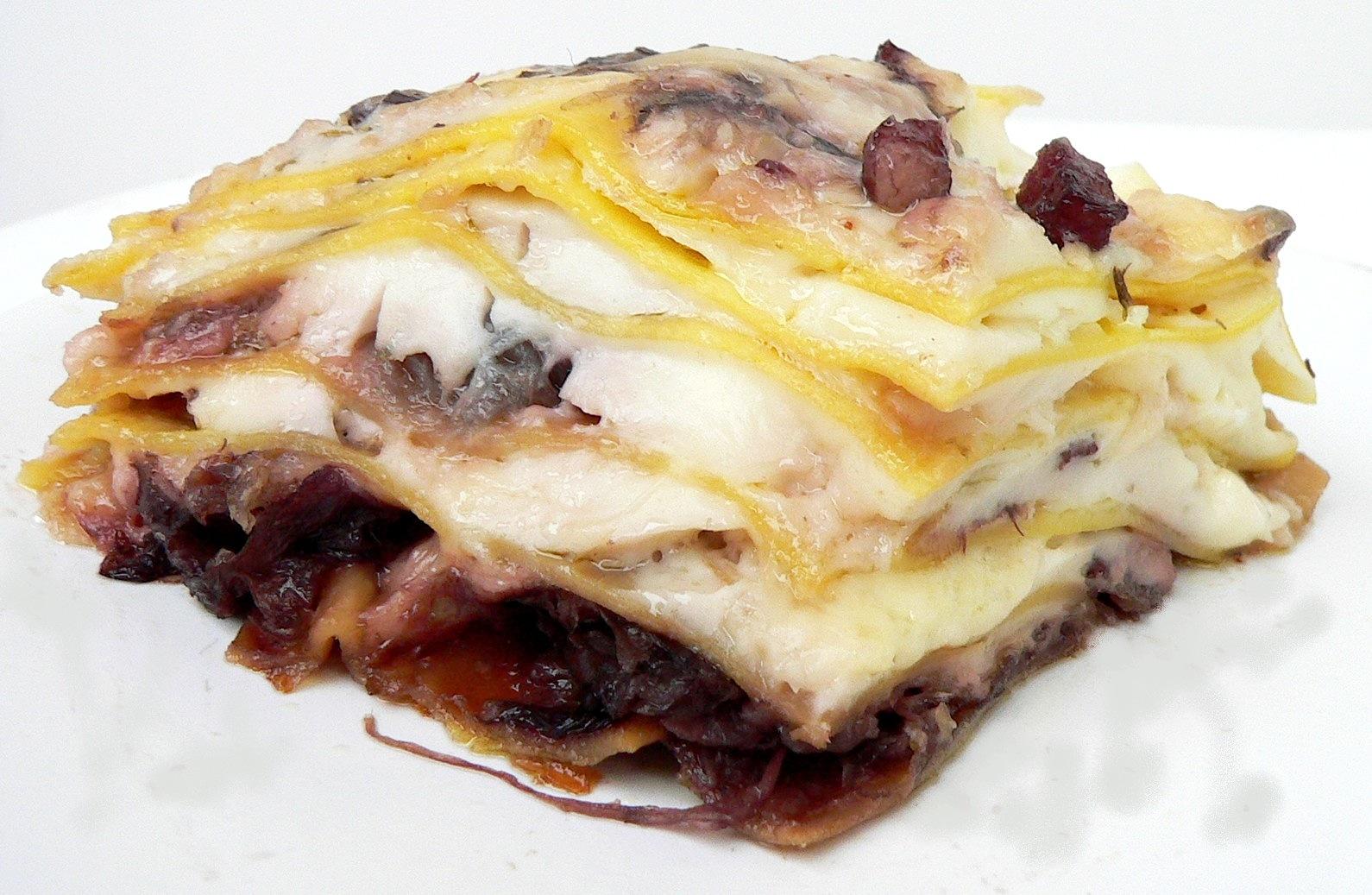 Queste Lasagne al Radicchio e Pancetta col Bimby sono una validissima ...
