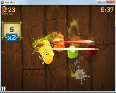 Download Game Fruit Ninja HD For PC