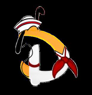 Alfabeto de personajes Disney con letras grandes D Pluto.