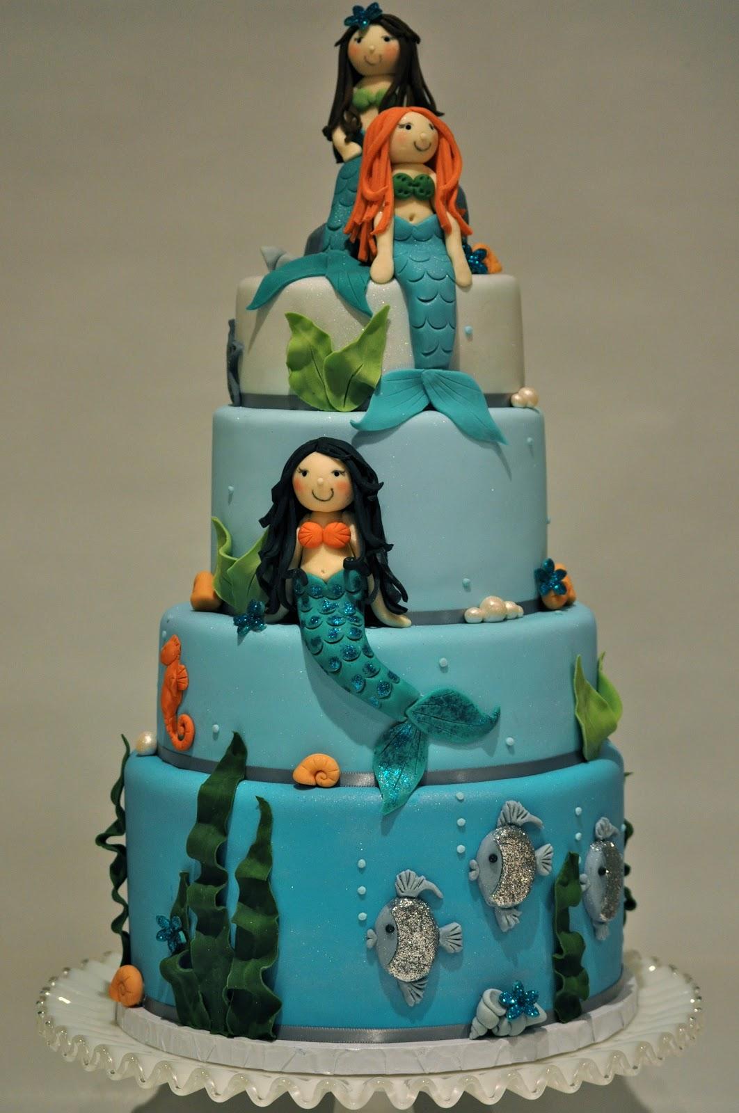 Little Mermaid Wedding Cake Topper