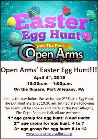 4-4 Easter Egg Hunt, Port Allegany Square