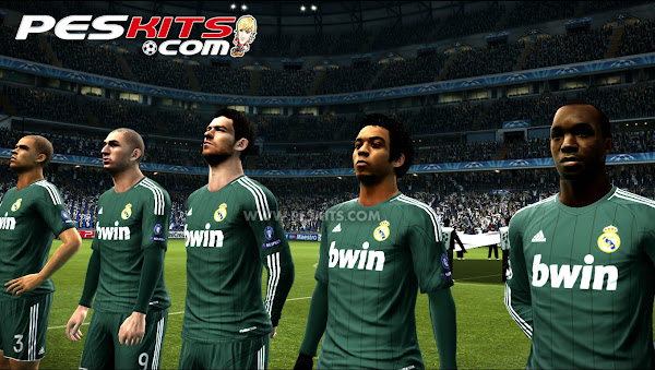 PES 2012 Real Madrid 2012/13 v2 Techfit + CL Kits by edxz101