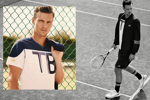 colección tenis Tomas Berdych H&M pantalones y camiseta