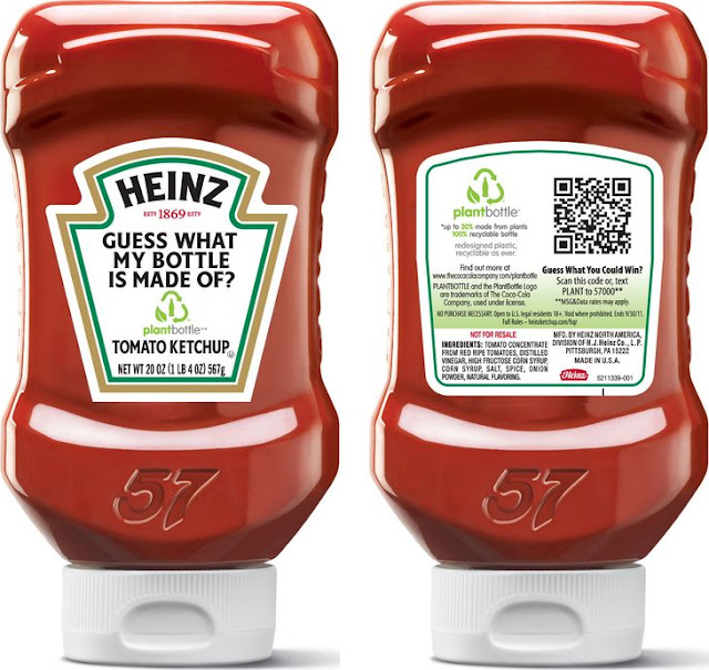 Heinze uses QR Codes on their plant bottles