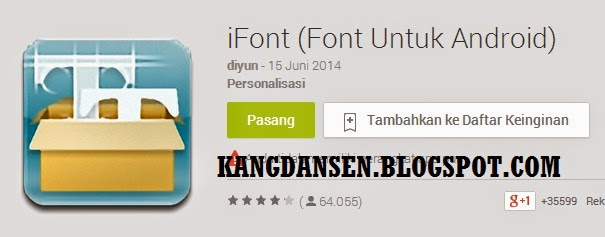 Ifont Untuk Android