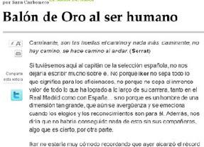 Sara Carbonero confunde a Serrat con Machado