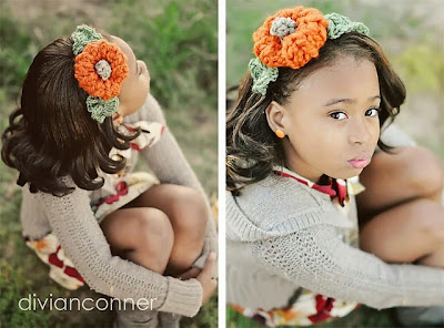 free crochet pattern pumpkin headband
