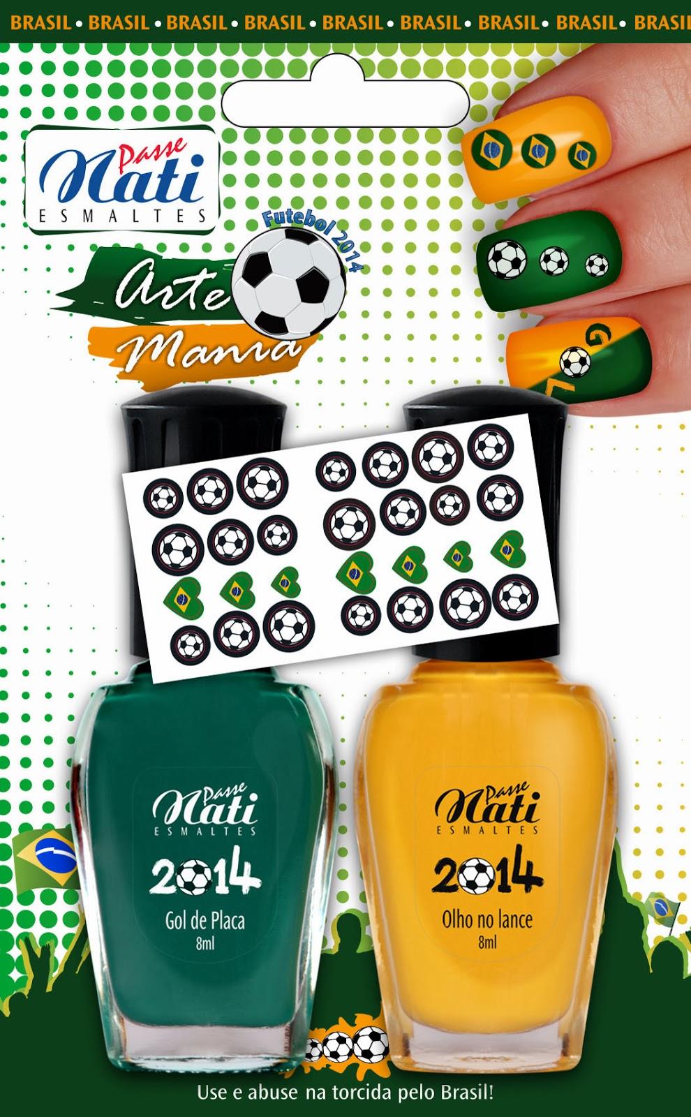 Esmaltes Passe Nati Coleção Futebol 2014