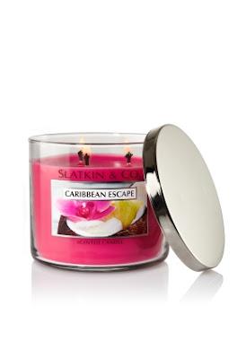 Slatkin & Co., Slatkin & Co. filled candle, Slatkin & Co. Caribbean Escape 14.5 oz. Filled Candle, candle, home fragrance, giveaway, beauty giveaway, candle giveaway, A Month of Beautiful Giveaways