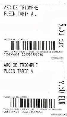 Εισιτήριο για την αψίδα του Θριάμβου :