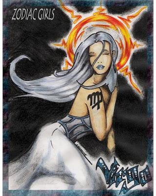 dibujo del zodiaco virgo