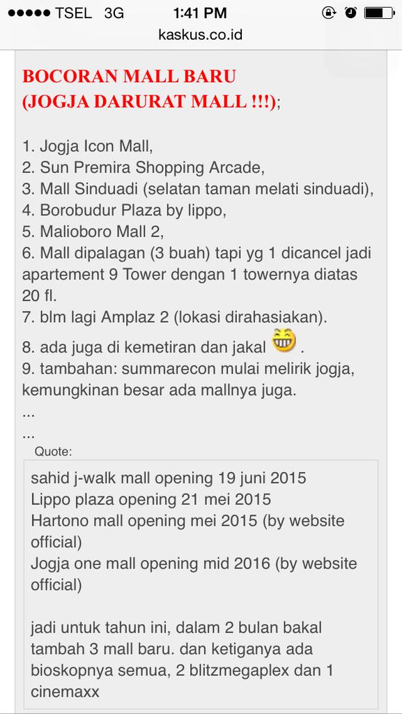 Mall baru di Jogja