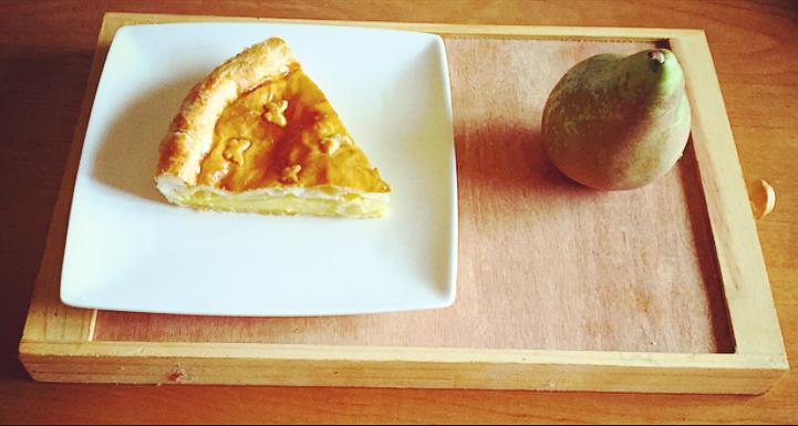 tarta de pera