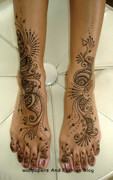Bridal Foot Mehndi Designs Unforgettable Collection : Top easy to copy and make mehndi designs for foot eid