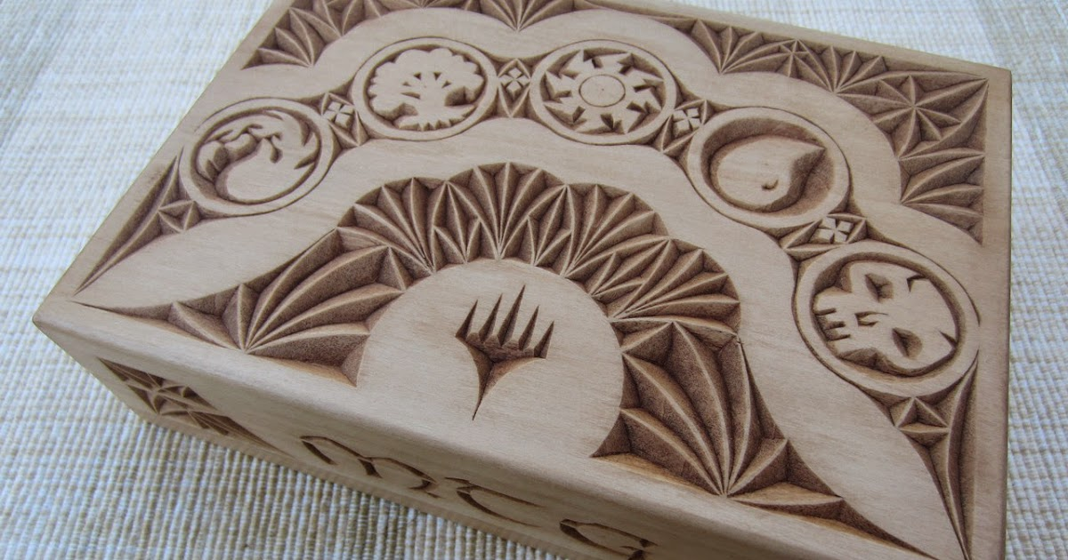 Ales the woodcarver mtg card box