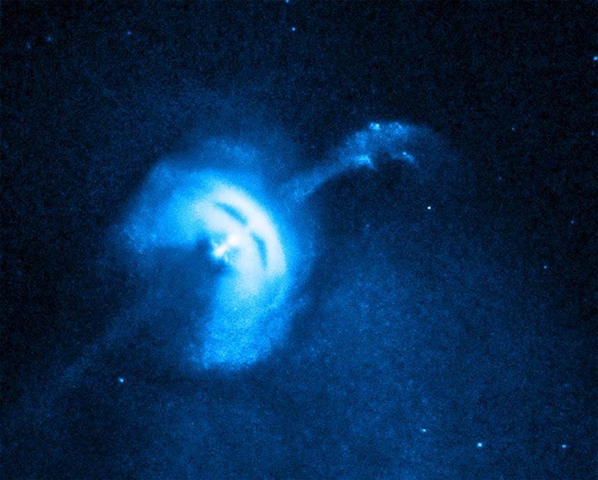 Джет пульсара в Парусах (Vela pulsar)