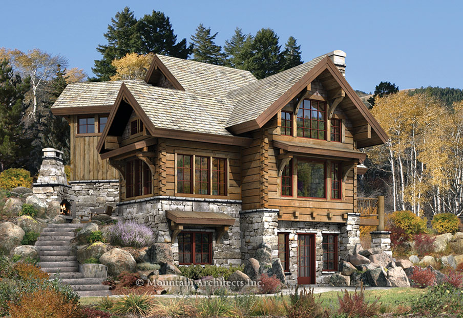 Catie witt fall break allergies and cabins for Rustic luxury house plans