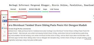 Cara Membuat Tombol Share Diblog