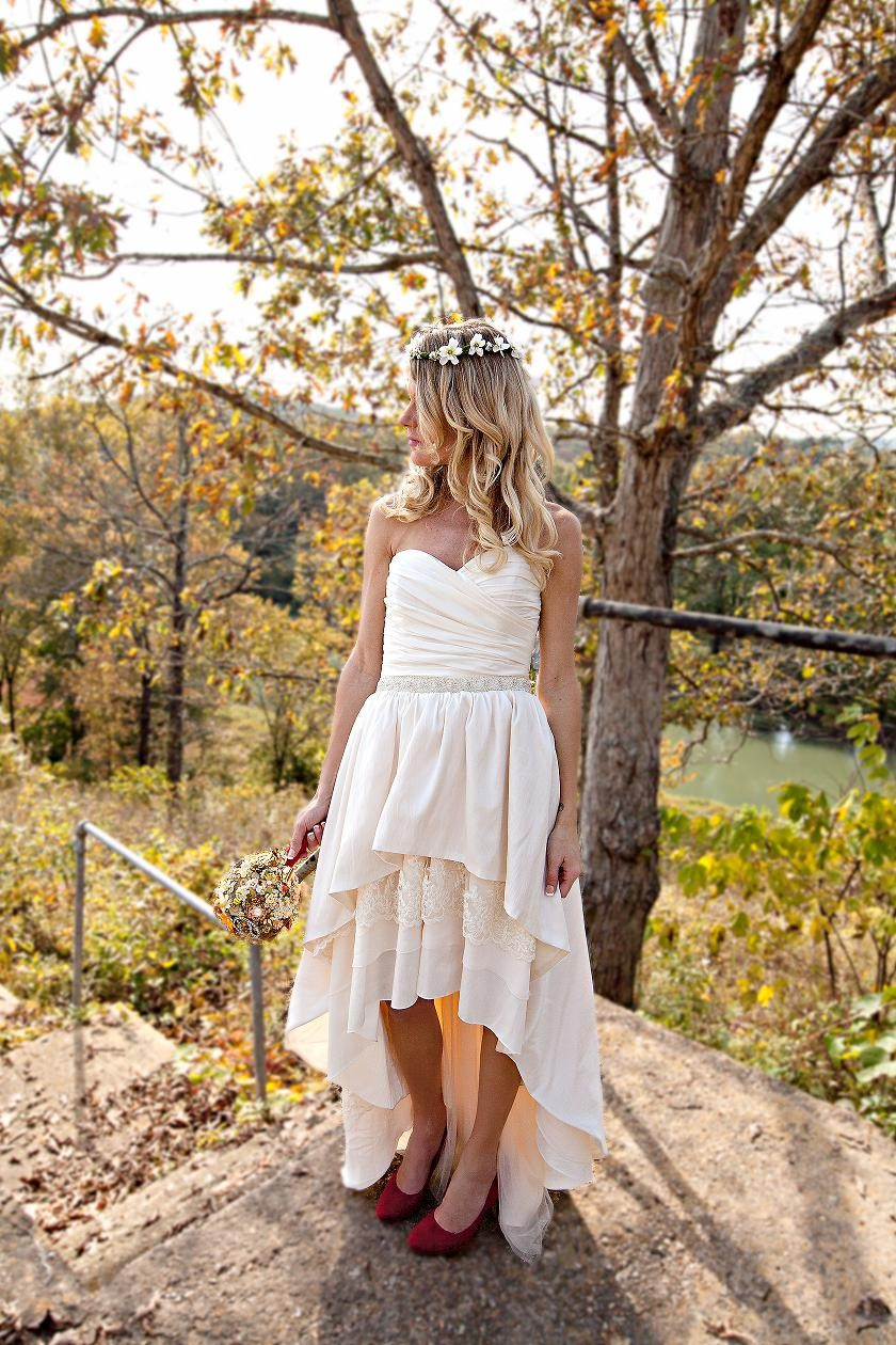 Wedding accessories ideas for Boho country wedding dress