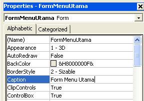 Tutorial Visual Basic 6.0, Pintar VB