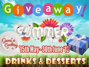 Summer Giveaway@ Gurus Cooking.