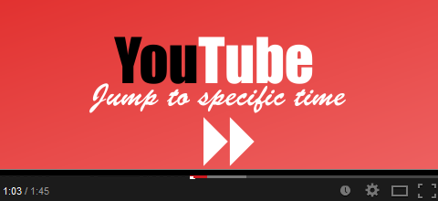 Jump to specific time on YouTube Video