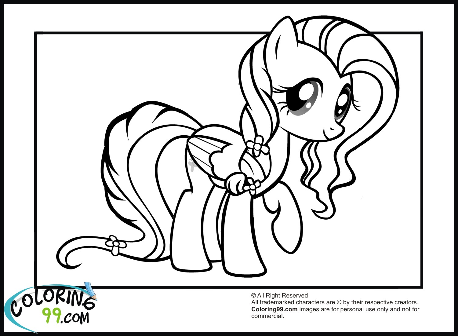 My Little Pony Fluttershy Coloring PagesMy Little Pony Coloring Pages Friendship Is Magic Fluttershy