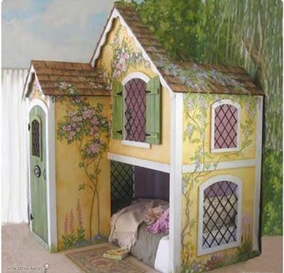 cama casita niña