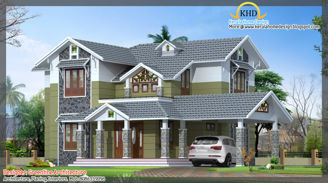 Kerala home design and floor plans 16 awesome house for Awesome house plans
