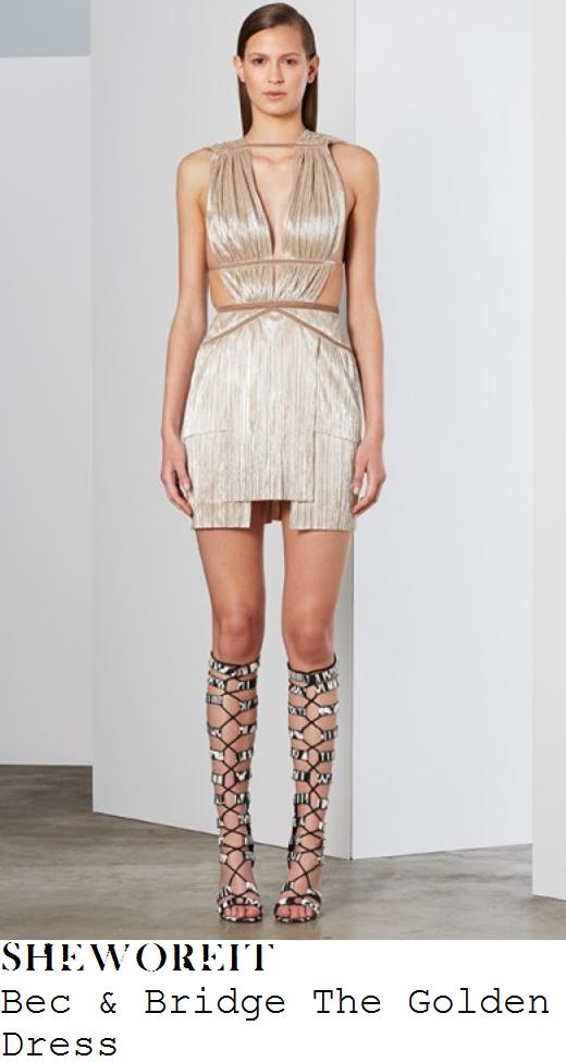 sam-faiers-gold-pleated-layered-strap-detail-mini-dress