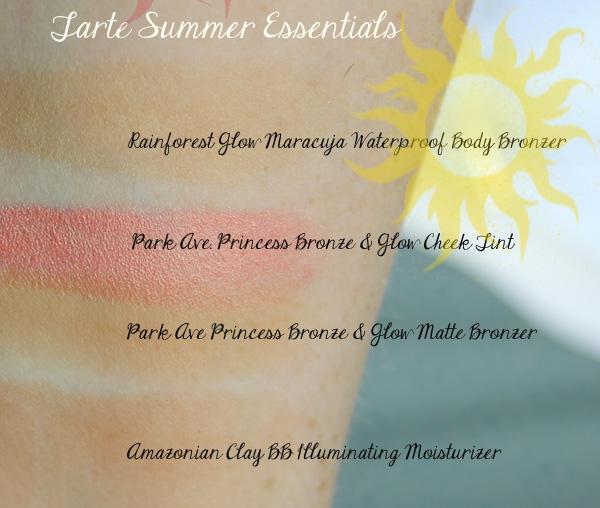 Tarte Summer Essential Swatches