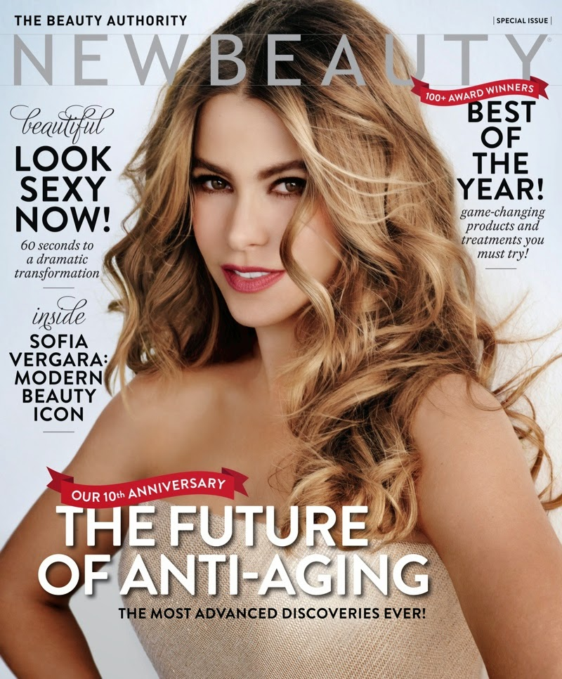 Sofia Vergara shows curvy self for the cover of NewBeauty Magazine Winter/Spring 2015