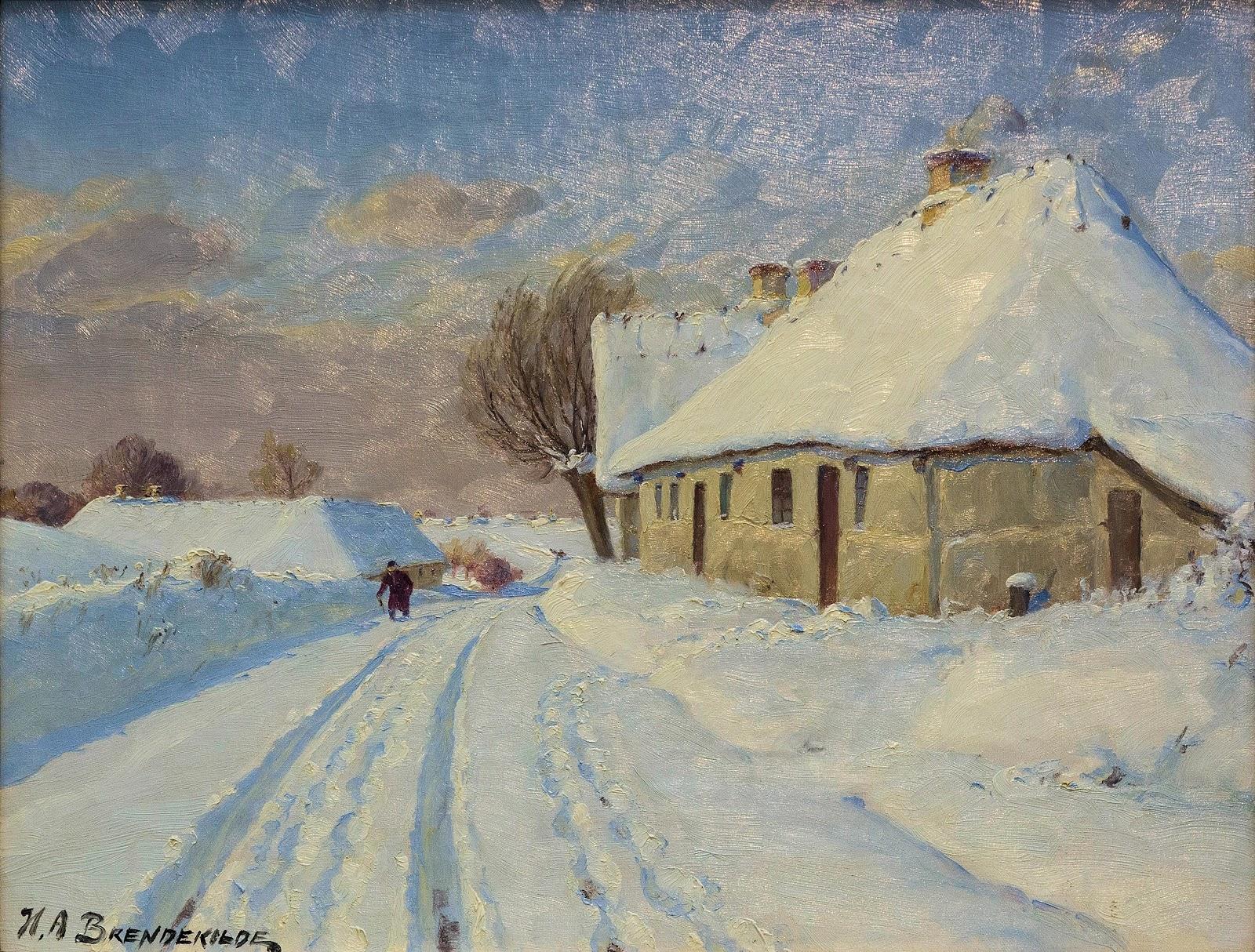 Hans Andersen  rendekilde Solskin i landsbyen en vinterdag C udateret