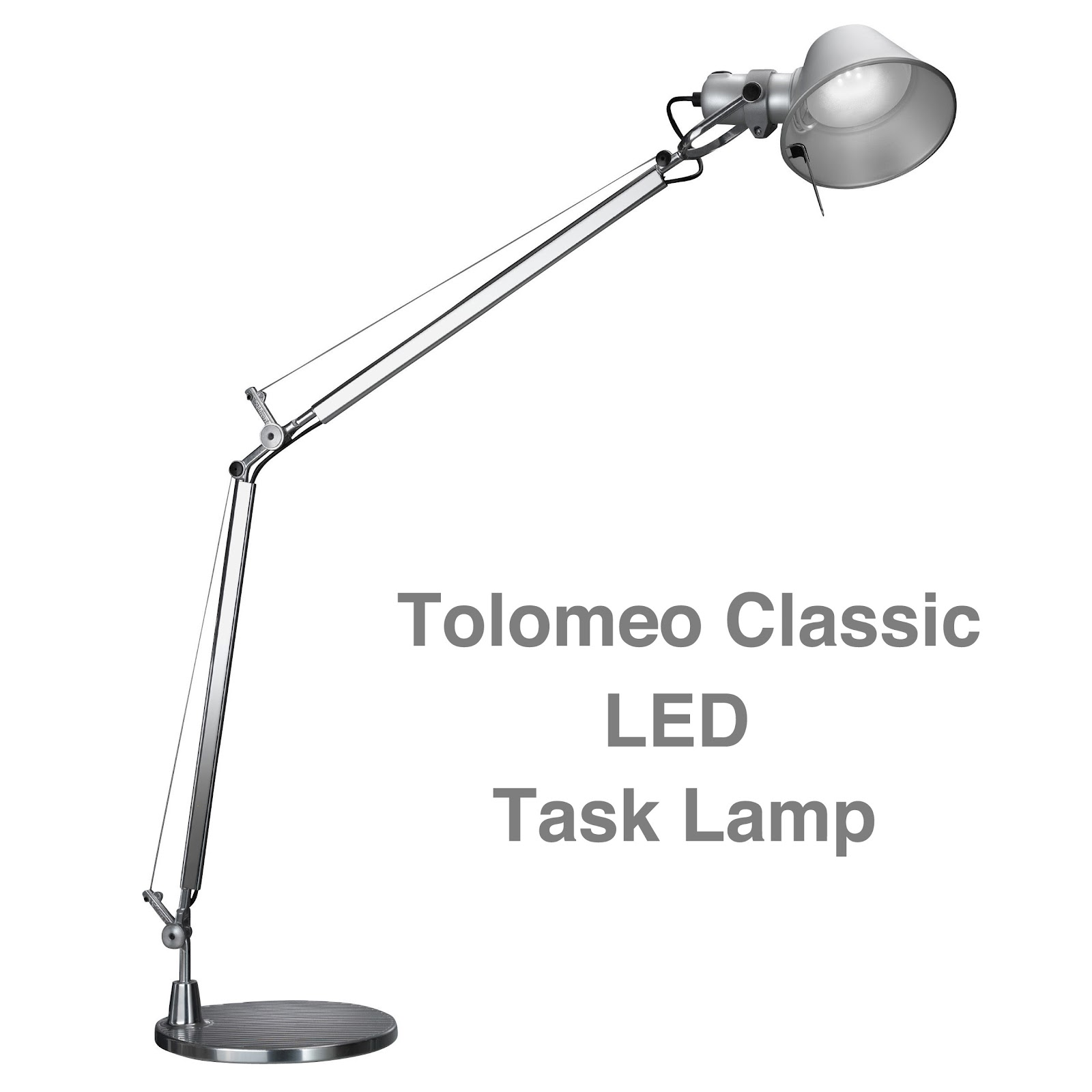 classic led tolomeo table lamp aluminum. Black Bedroom Furniture Sets. Home Design Ideas