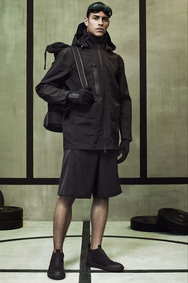 Collection Hommes Alexander Wang x H&M 2014 neoprene sportswear fashion NY parka