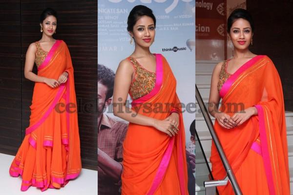 orange lehenga saree floral blouse saree blouse patterns