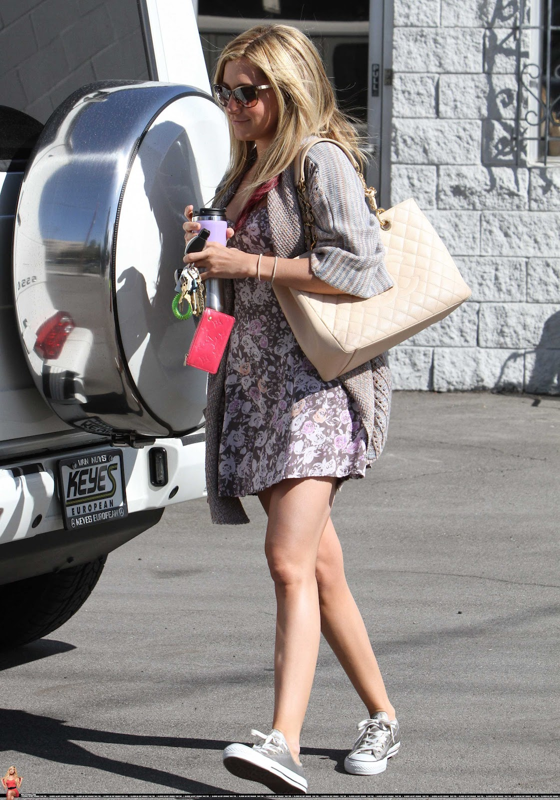Ashley Tisdale Leaving A Studio In Burbank