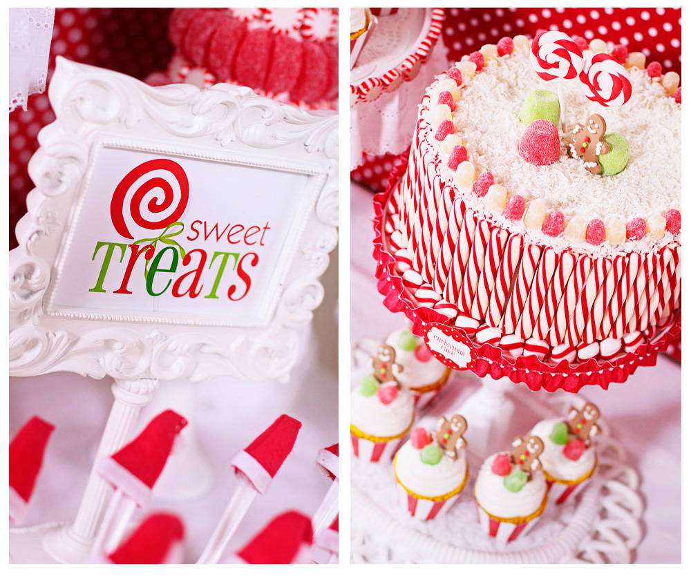 Christmas dessert table decoration ideas - I Ve Always Loved The Idea Of A Candy Christmas With Lollipops And Peppermint Gingerbread Men And Candy Canes For The Table I Wanted To Set A Holiday