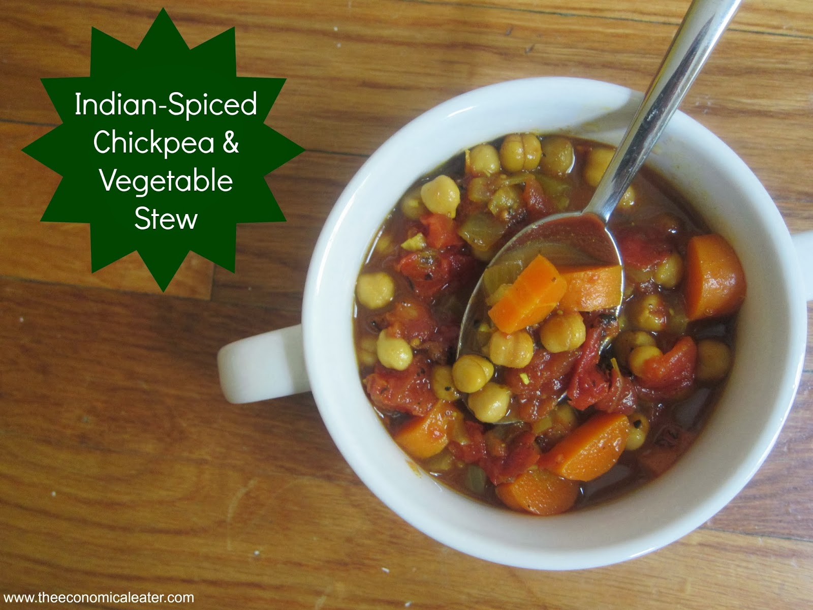Indian-Spiced Chickpea & Vegetable Stew | The Economical Eater