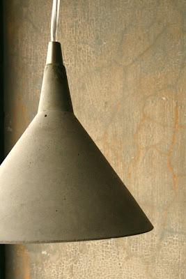 concrete lampshade