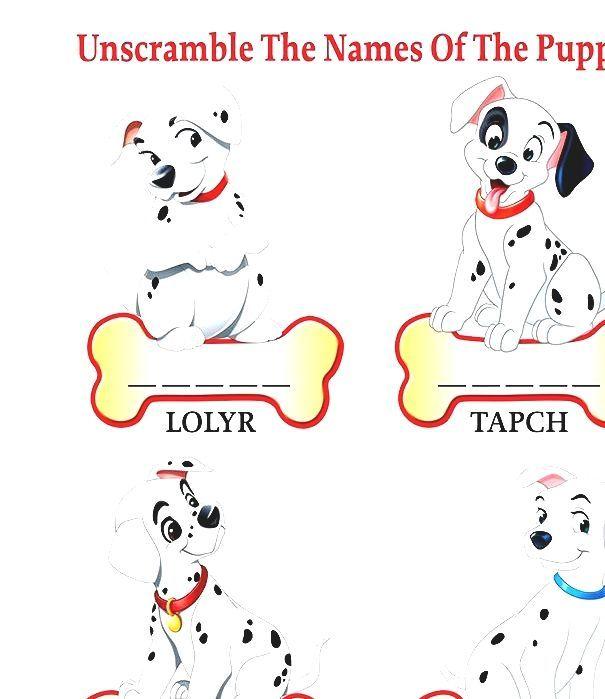 101 Dalmatians Dogs Name