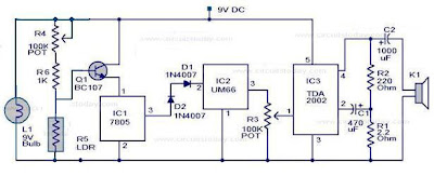 Simple Fire Alarm Circuit based on LDR